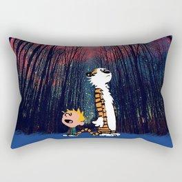 calvin and hobbes nebula night Rectangular Pillow