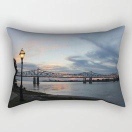 Natchez Bridge At Sunset Rectangular Pillow
