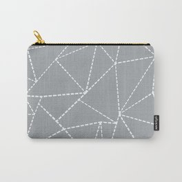 Abstract Dotted Lines Grey Carry-All Pouch