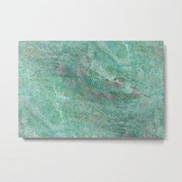 Mossy Woods Green Marble Metal Print