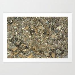 "Pyrite ""Fool's Gold"" Art Print"