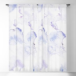 Modern abstract navy blue lavender watercolor Blackout Curtain