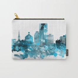 Lexington Kentucky Monochrome Blue Skyline Carry-All Pouch