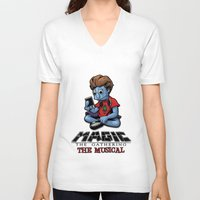 magic the gathering V-neck T-shirts featuring Magic The Gathering The Musical by Molly Coffee