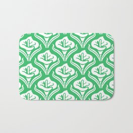 Calla Lily Pattern Green Bath Mat