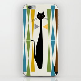 Mid-Century Modern Art Cat 2 iPhone Skin