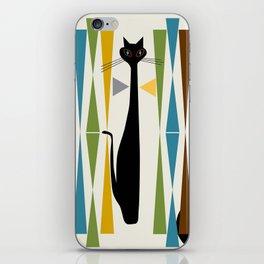 Mid-Century Modern Art Cat 2 iPhone Skin