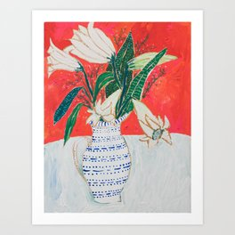 Easter Lily Bouquet Art Print