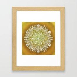 Rising Sun Mandala Framed Art Print
