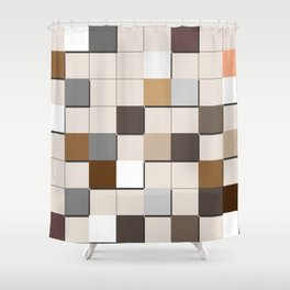 Incomplete Wall Tiles Shower Curtain