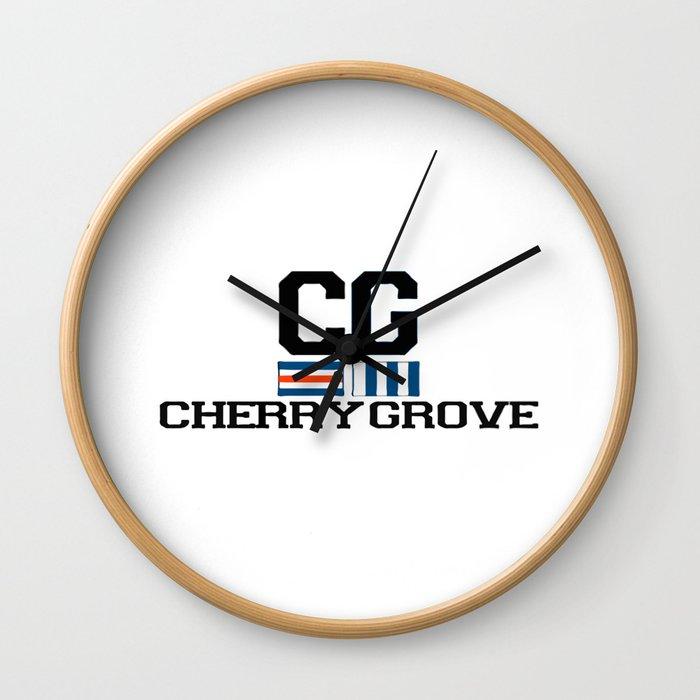 Cherry Grove - New York. Wall Clock