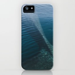 Whale bathing in the Sun of East Greenland iPhone Case
