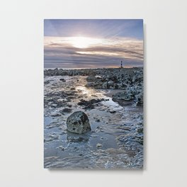 Sundown At The Lighthouse Metal Print