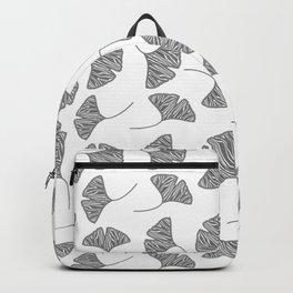 Ginkgo Leaves White & Black Design Pattern Backpack