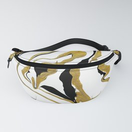Gold And Black Opulence Fanny Pack