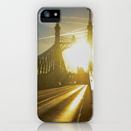 Liberty Bridge Sunset iPhone Case