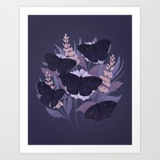 Night Butterflies Art Print
