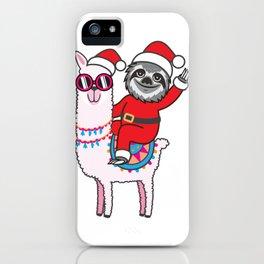 Sloth Llama iPhone Case
