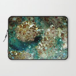 SPARKLING GOLD AND TURQUOISE CRYSTAL Laptop Sleeve