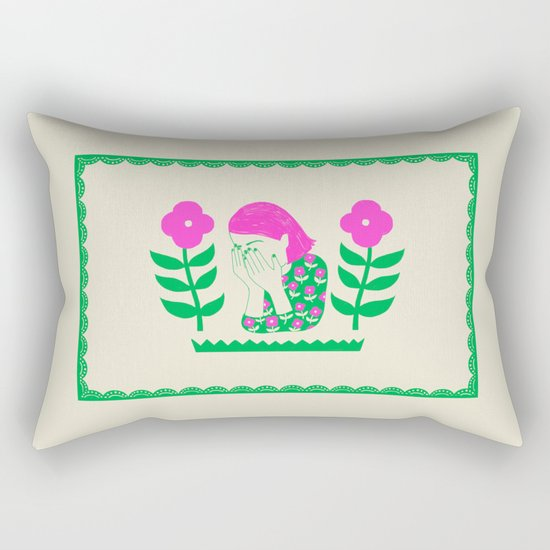 Don't be shy, shy girl, shy, print Rectangular Pillow