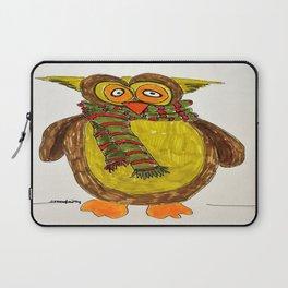 Owl in winter Laptop Sleeve