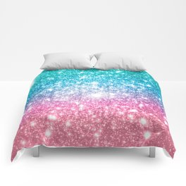 Mermaid Galaxy Sparkle Stars Comforters