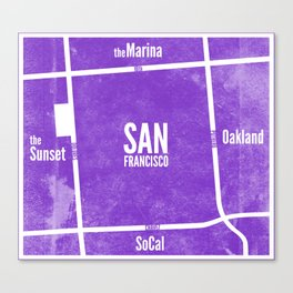 This is SF (Purple) Canvas Print