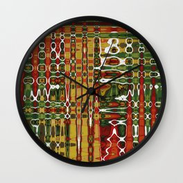Abstract Art Work Geometic Wall Clock