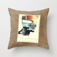 stiles stilinski Throw Pillows featuring Teen Wolf - Stiles Stilinski by Petia Koteva