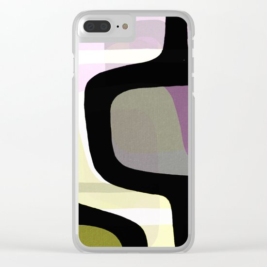 Mid Century Abstract 1 Clear iPhone Case