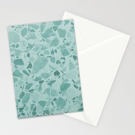 Teal Terrazzo Stationery Cards