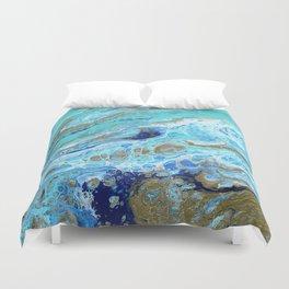 Aqua Geography Duvet Cover