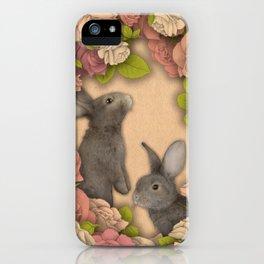 Rosie Rabbits iPhone Case