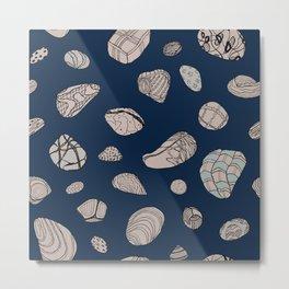 Blue Geos Metal Print