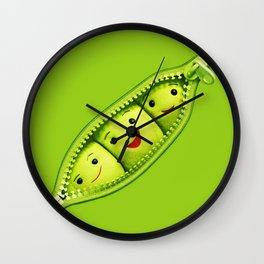Green Soy Bean Wall Clock