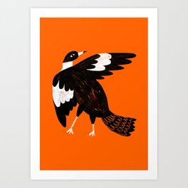 Maggie the magpie Art Print