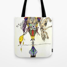 Death Chases Tote Bag