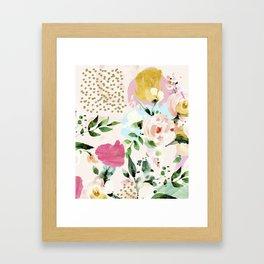 Floral Blush #society6 #decor #buyart Framed Art Print