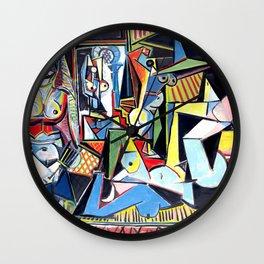 Pablo Picasso - Les Femmes d'Alger (Women of Algiers) 1955 Artwork Wall Clock