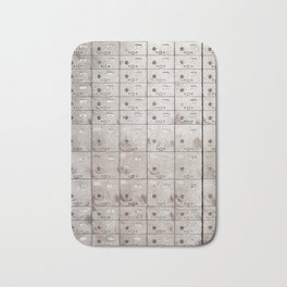 Chests with numbers Bath Mat