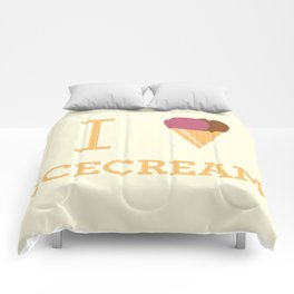 I heart Icecream Comforters
