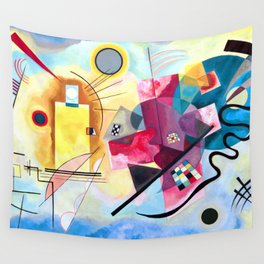 Wassily Kandinsky - Yellow Red Blue Wall Tapestry