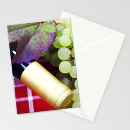 Wine and green grape Stationery Cards
