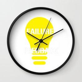 Funny Feedback Tshirt Designs Failure Feedback Wall Clock