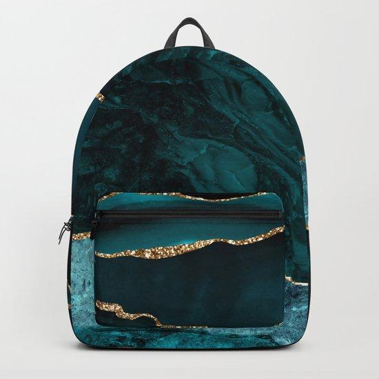 Teal Blue Emerald Marble Landscapes by originalaufnahme