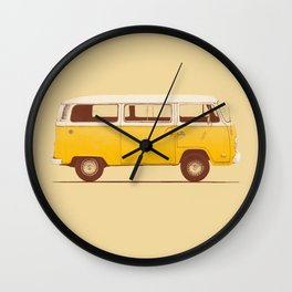 Van - Yellow Wall Clock