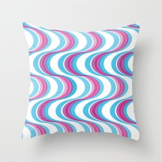 Purple Waves Throw Pillow
