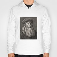 da vinci Hoodies featuring Leonardo da Vinci by Palazzo Art Gallery
