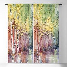 4 Season watercolor collection - summer Blackout Curtain
