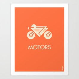 MOTORS / The Bike Art Print